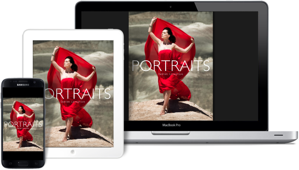 Portraits eBook for phone, tablet, laptop, desktop